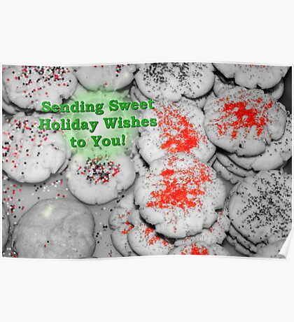 Sweet Holiday Wishes Card Poster