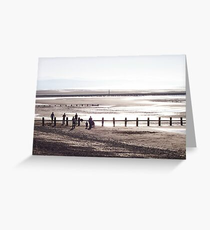 Silver Beach Scene Greeting Card