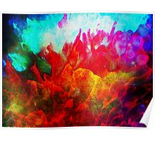Abstract color explosion Poster