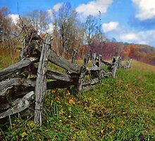 blueridge fence by J.K. York