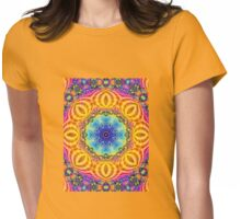 Oriental peacock design Womens Fitted T-Shirt