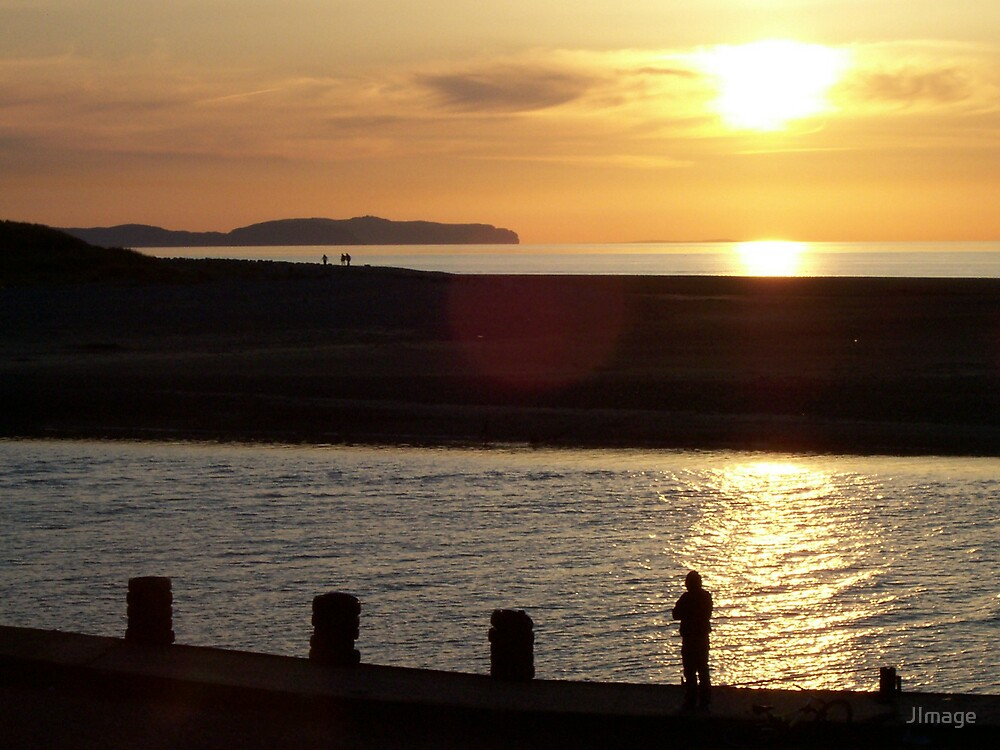 Fisherman at Sunset by JImage
