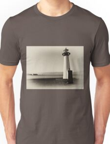Small old lighthouse in black and white Unisex T-Shirt