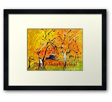 Happy Thanksgiving/Whimsical Wind Framed Print