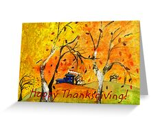 Happy Thanksgiving/Whimsical Wind Greeting Card