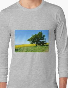 Solitary lonely tree on a hill  Long Sleeve T-Shirt