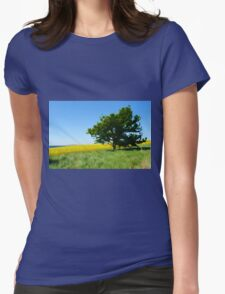 Solitary lonely tree on a hill  Womens Fitted T-Shirt