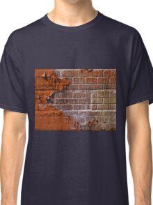 Textured red bricks wall Classic T-Shirt