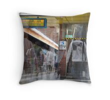 Passengers and Stairs Throw Pillow