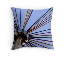 Neon from Silver Throw Pillow