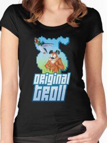 Duck Hunt - The Original Troll Women's Fitted Scoop T-Shirt