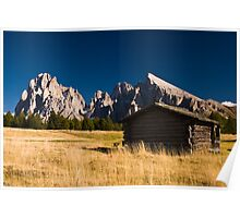 Old house on Seiser Alm Poster