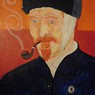 Portriat of Vincent VanGogh by Richard  Tuvey