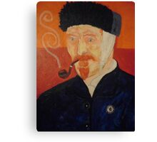 Portriat of Vincent VanGogh Canvas Print
