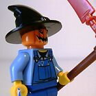 Scary Scarecrow Minifigure with Scythe iPhone iPod Case Customize My Minifig by Chillee