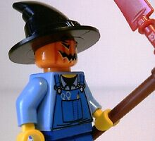 Scary Scarecrow Minifigure with Scythe  by Customize My Minifig