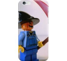 Scary Scarecrow Minifigure with Scythe  iPhone Case/Skin