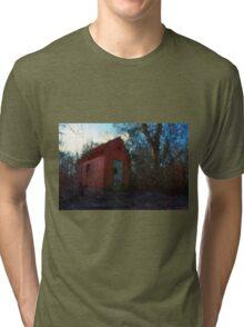 Small rural brick house  Tri-blend T-Shirt