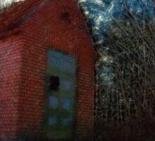 Small rural brick house  Sticker