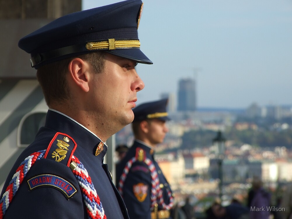 Prague Castle Guards by Mark Wilson