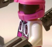 Halo Wars Pink Spartan Soldier Custom Minifig Sticker