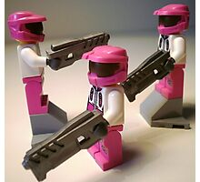 Halo Wars Pink Spartan Soldier Custom Minifig Photographic Print