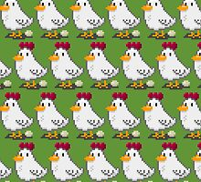 Pixel Chickens by pencilfury