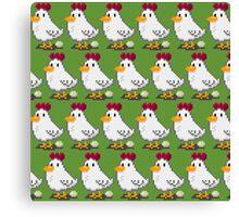 Pixel Chickens Canvas Print