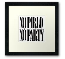 No Pirlo No Party Mug. Framed Print