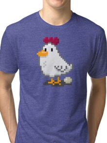 Pixel Chickens Tri-blend T-Shirt