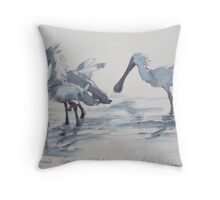 Royal Spoonbills - my favourite bird. Throw Pillow