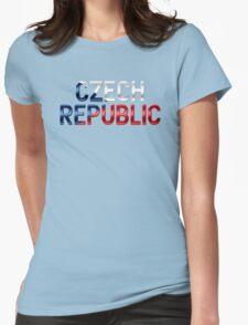 Czech Republic - Czech Flag - Metallic Text Womens Fitted T-Shirt