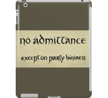no admittance iPad Case/Skin