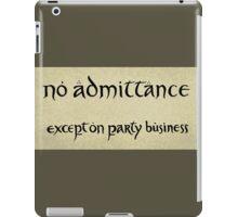 no admittance iPad Case/Skin