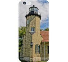 White River Lightouse Station, Whitehall, Michigan iPhone Case/Skin