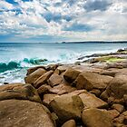 Rocks at the end of The Strand, Port Elliot by Oliver Winter