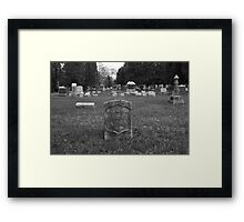 Lie Alone Framed Print
