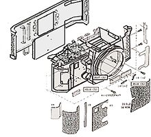Nikon f3 camera blueprint by happiyi