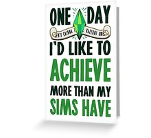The Sims Greeting Card
