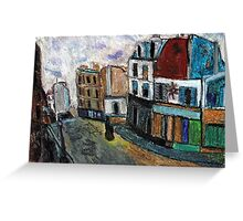 City Square(after Utrillo) Greeting Card