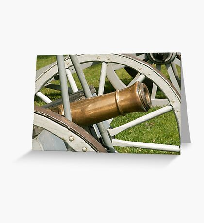 Large Cannon Greeting Card
