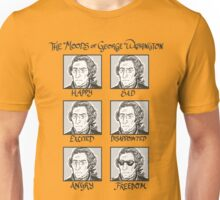 The Moods of George Washington Unisex T-Shirt