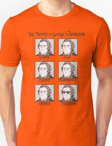The Moods of George Washington Unisex T-Shirt