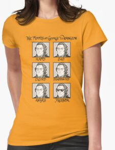 The Moods of George Washington Womens Fitted T-Shirt