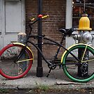 Red and Green Bike - New Orleans, LA by Daniel  Rarela