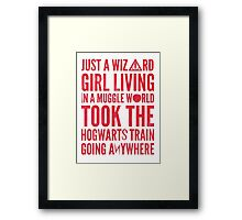 Small Town Wizard - Journey Mashup Framed Print