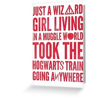 Small Town Wizard - Journey Mashup Greeting Card