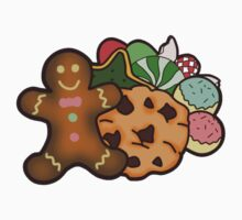 Christmas Cookie Stickers + shirts/prints/pillows/totes/mugs by kishii0