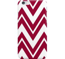Apple Red Zigzags iPhone Case/Skin