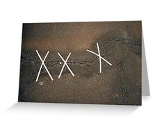 Asphalt bandage Greeting Card